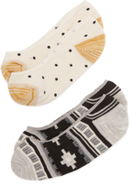 Madewell Rustic Pattern / Mini Dot No Show Sock Set