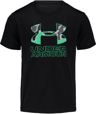 Under Armour Boys' Pre-School UA Diverge Micro Big Logo Short Sleeve