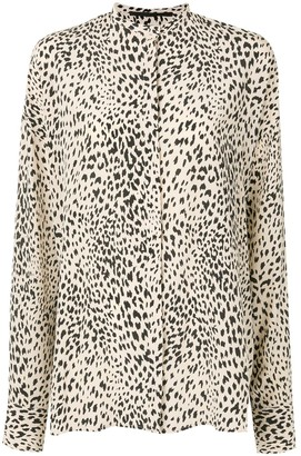 Haider Ackermann Oversized Leopard Print Shirt