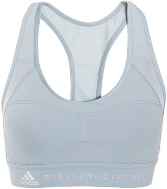 adidas by Stella McCartney Mesh-paneled Stretch Sports Bra