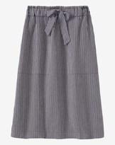 Toast Stripe Cotton Linen Skirt