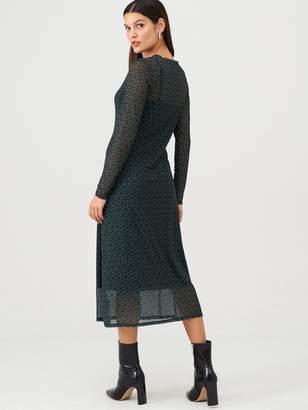 Very Geo Mesh Dress - Multi