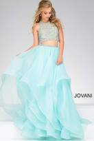 Jovani Two Piece Embellished Top Ballgown 33220