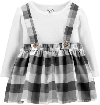 Carter's Baby Girl 2-Piece Bodysuit & Plaid Jumper Set