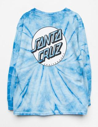 Santa Cruz Tie Dye Girls Blue Tee