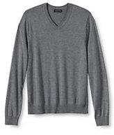 Lands' End Men's Performance Soft V-neck Sweater-Antique Moss