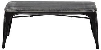 Williston Forge Selene Wood/Metal Bench Williston Forge Color: Antique Black