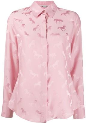 Stella McCartney Jacquard-Woven Horse Shirt