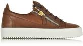 Giuseppe Zanotti Walnut Leather Low Top Sneaker