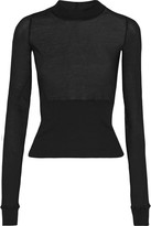 Rick Owens Cotton-jersey Top - Black
