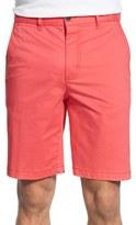 Bugatchi Men's Flat Front Stretch Cotton Shorts
