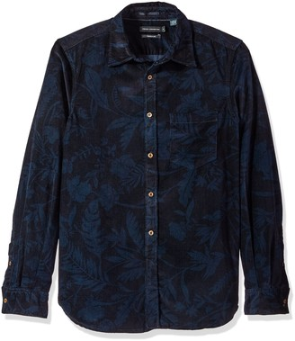 French Connection Men's Overdyed Fumio Floral Shirt