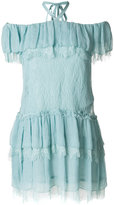 Alice + Olivia Alice+Olivia ruffled off shoulder dress