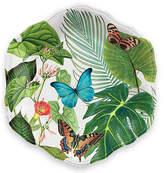 One Kings Lane Set of 12 Amazon Floral Melamine Dinner Plates - Green