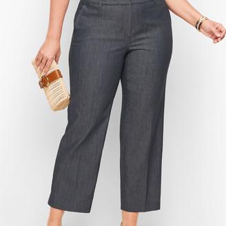 Talbots Straight Leg Crop Pants - Polished Denim