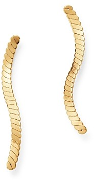 Bloomingdale's Curved Climber Earrings in 14K Yellow Gold - 100% Exclusive