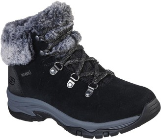 Skechers Trego Walking Lace Up Ankle Boot - Black