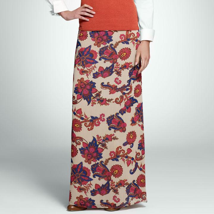 Jones New York Floral Maxi Skirt