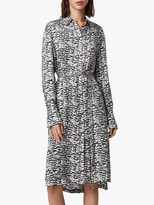 AllSaints Anya Plume Print Dress, Chalk White