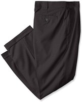 Louis Raphael Men's Big-Tall Rosso Super 150 Twill Pleated Pant