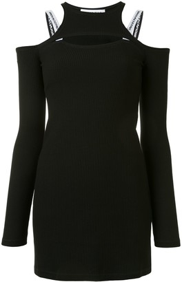 Ground Zero Cold-Shoulder Fitted Dress