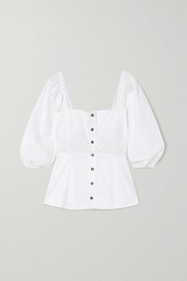 Ganni Organic Cotton-poplin Blouse - White