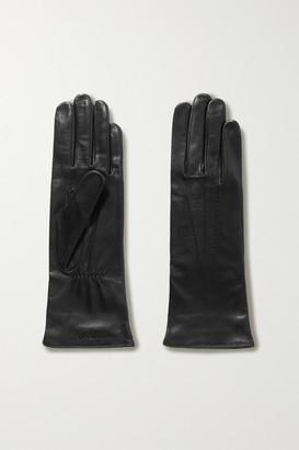 Agnelle Grace Leather Gloves - Black