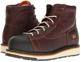Timberland Gridworks 6 Alloy Safety Toe Boot (Red/Brown Full-Grain Leather) Men's Work Boots