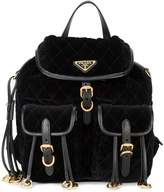 Prada embellished quilted backpack