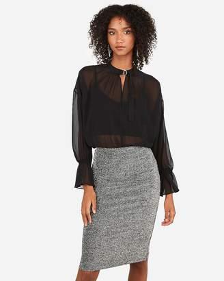 Express High Waisted Metallic Pencil Skirt