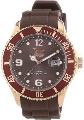 Ice Watch Men's Watch XL Style Brown Analogue Quartz Silicone is. BNR. B.S.13