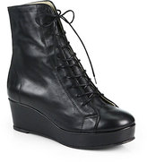 Opening Ceremony Bumper Leather Lace-Up Ankle Boots