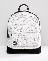 Mi-Pac Cracked Backpack White