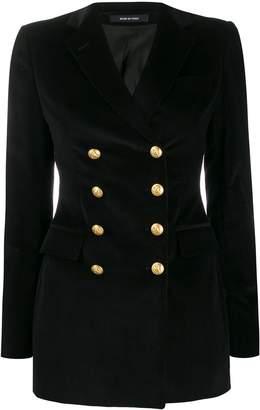 Tagliatore double-breasted velvet blazer