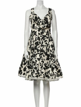 Oscar de la Renta 2008 Knee-Length Dress Black