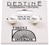 Crystallite Destine White Pearl 8mm Earrings