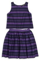 Ralph Lauren Toddler's, Little Girl's & Girl's Striped Cotton Top & Skirt Set