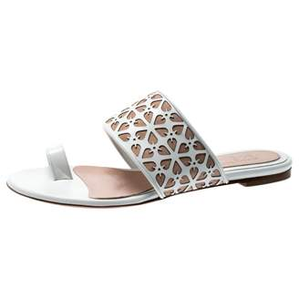 Alexander McQueen White Suede Sandals