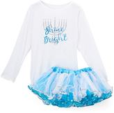Beary Basics White 'Shine Bright' Tee & Pettiskirt - Toddler & Girls
