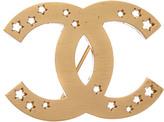 Chanel Gold-Tone Star Cc Pin