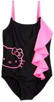 Hello Kitty Side Ruffle One Piece (Little Girls)