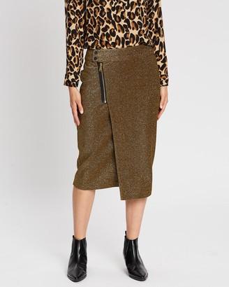 Scotch & Soda Midi Lurex Skirt with Zipper