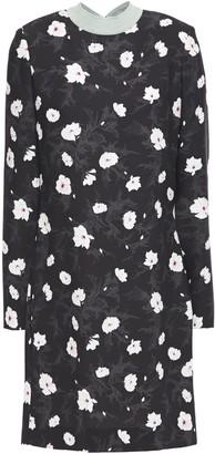 Carven Floral-print Crepe Mini Dress