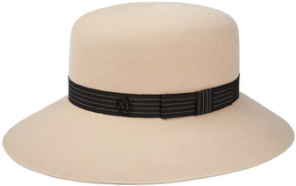 Maison Michel New Kendall Rabbit Felt Fedora Hat