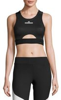 adidas by Stella McCartney Run Performance Crop Top/Sports Bra, Black