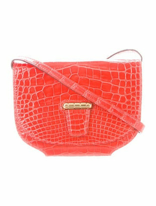 Hermes Alligator Mississippiensis Mini Convoyeur Bag gold