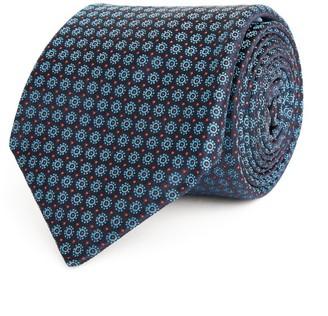 Kiton Silk Flower Print Tie
