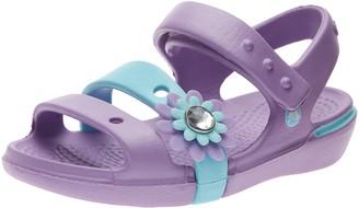Crocs Girls Keeley Petal Charm Sandals 14852-59U-118 Iris/Ice Blue 9 UK Child 25.5 EU 9 US Child