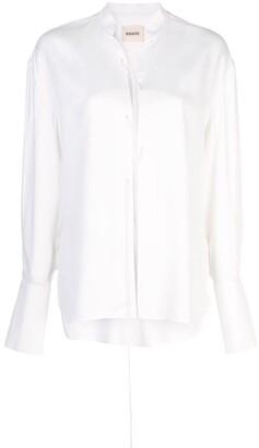 KHAITE lace-up front blouse