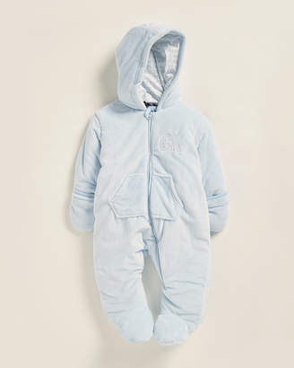Calvin Klein Jeans Newborn Boys) Plush Long Sleeve Footie